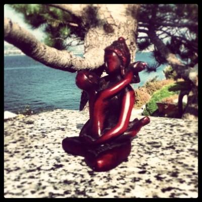 Buddha z družico