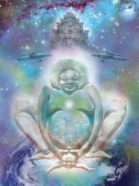 Nosečnost je kozmični dogodek. slika: Jahsah Ananda