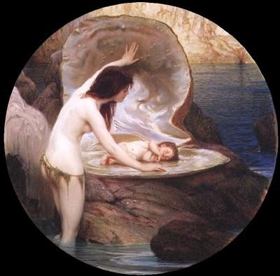 Herbert Draper: Water baby