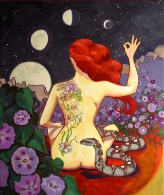 rdečelaska lunine mene
