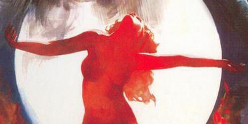 polna luna in rdeča boginja