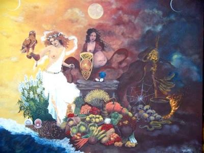 Dekle, Mati in Modra Ženska so arhetipi treh glavnih ženskih šamanskih iniciacij.