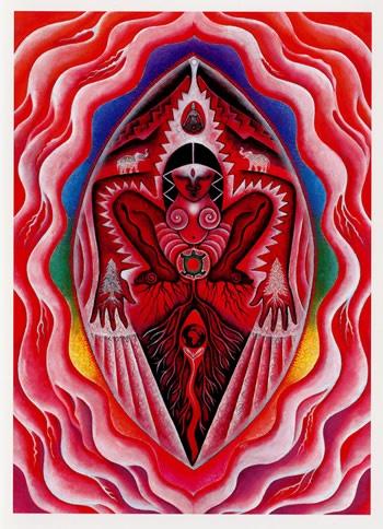Yoni - simbol ženske duhovne moči. Ženska je tista, ki ustvari elektromagnetno polje med spolnim odnosom in moški je tisti, ki se mora naučiti nadzorovati svojo električnost in se prepustiti polju, ki ga je ustvarila ženska.  Tako se oba odpreta povsem novi, globlji dimenziji spolnosti in novemu doživljanju (kreativne) energije.