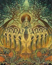 Svečenice boginje Inane. slika: Emily Balivet