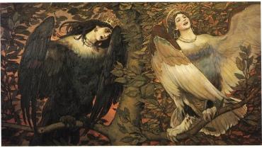 črna in bela ptica boginja