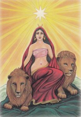 prsna boginja z levi