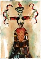 kačja boginja slika