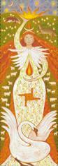 Brigid prinaša novo svetlobo. Na njenem krilu je Brigidin križ, ki pomeni 4 smeri neba, prizemljenost, stabilnost, našo podlago in ogrodje.