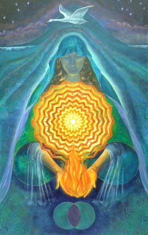 Boginja Brigid je varuhinja duhovnega Ognja. Bdi nad našimi iniciacijami, našimi pogumnimi dejanji predaje duhovni poti in nas sprejme na drugi strani - na strani Svečenic.