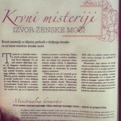 Članek o Preobrazbi menopavze v februarski Sensi.