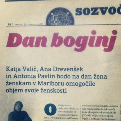 Na dan žena, 8. marca, bomo v Mariboru praznovale ženskosti, ozavestile Boginjo, v sebi... na Dan Boginj!