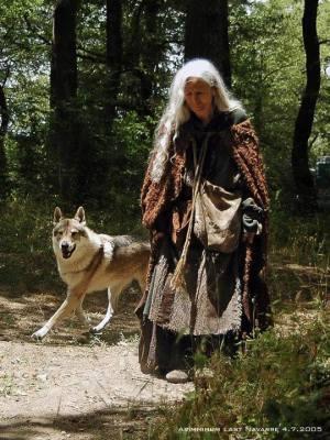 Modra Ženska z volkom