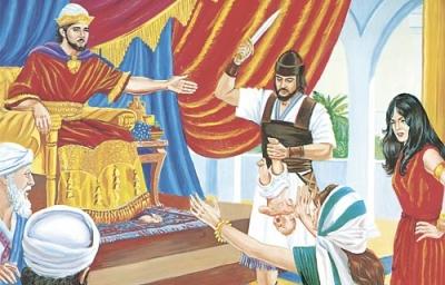 Tudi nad sodobnimi materami visi Salomonov meč.