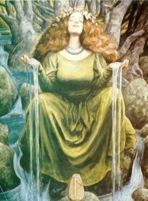 Boginja Mati, veličastna, Počelo Vesolja, čaščena, Božanska. slika: Brian Froud