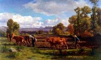 Oranje - uničevanje zemlje IN težaško delo, ki človeka prerano izčrpa. slika: Auguste Bonheur